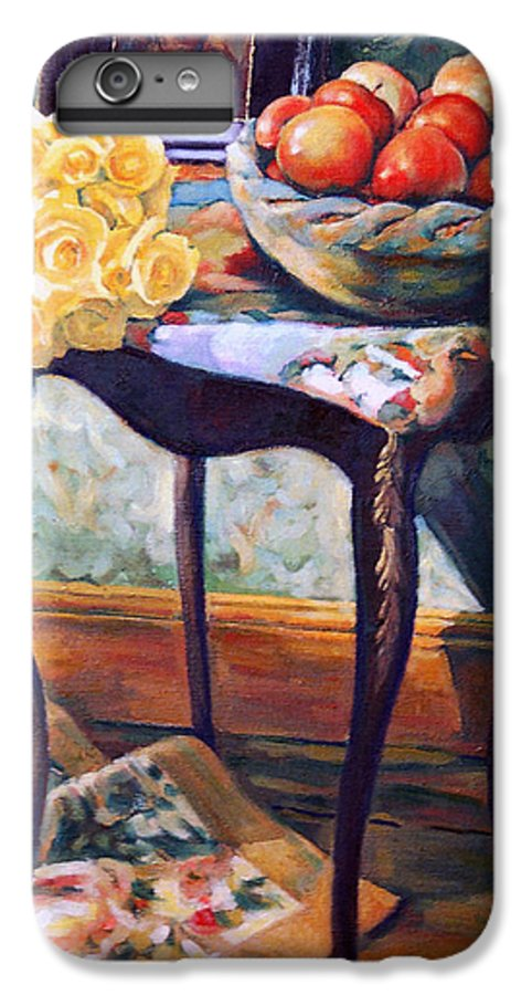 Still Life IPhone 6 Plus Case featuring the painting Still Life With Roses by Iliyan Bozhanov