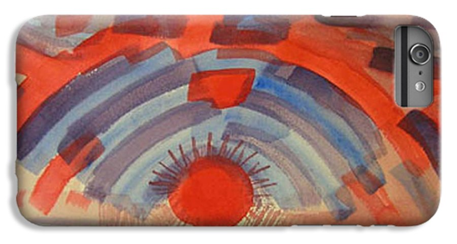 Landscape IPhone 6 Plus Case featuring the painting Sunset On The Horizon by Natalee Parochka