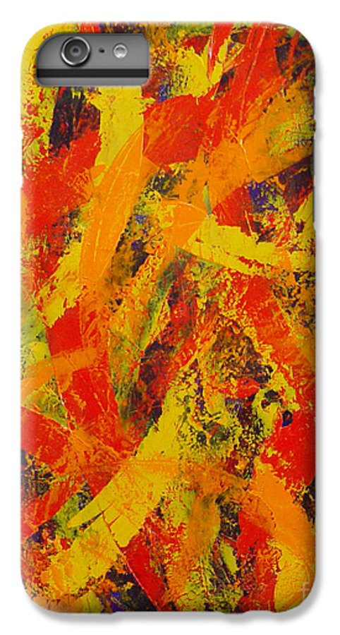 Abstract IPhone 6 Plus Case featuring the painting Untitled by Dean Triolo