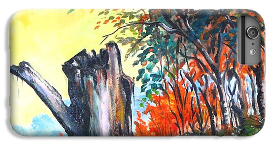 Landscape IPhone 6 Plus Case featuring the painting Verde Que Te Quero Verde by Leomariano artist BRASIL