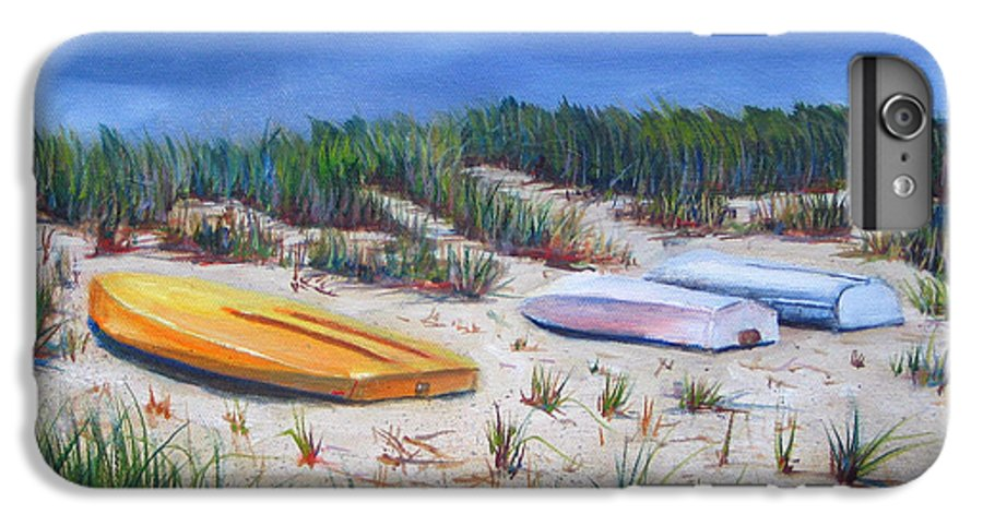 Cape Cod IPhone 6 Plus Case featuring the painting 3 Boats by Paul Walsh