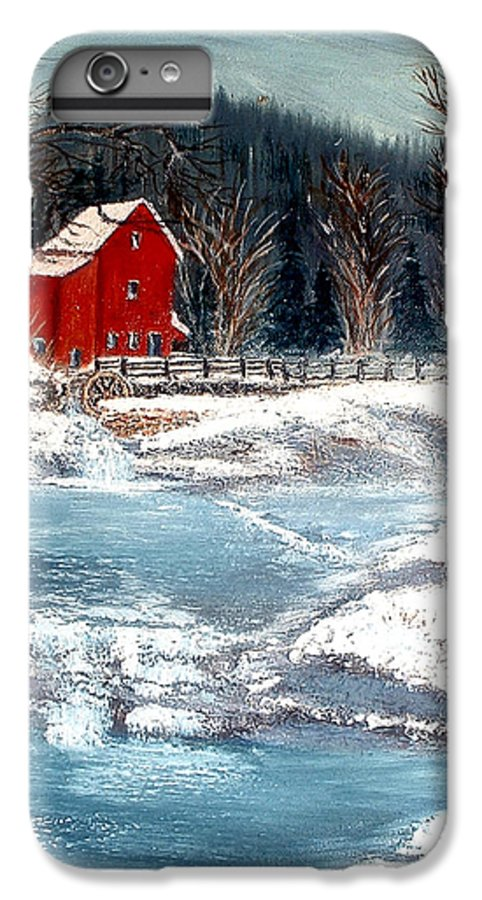 Landscape Mill Old Streem Creek IPhone 6 Plus Case featuring the painting Old Mill by Kenneth LePoidevin