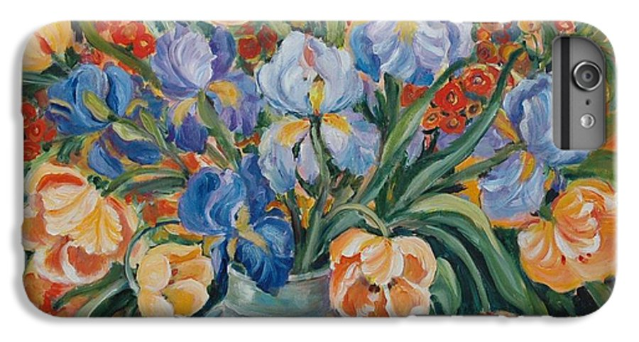 Still Life IPhone 6 Plus Case featuring the painting Tulips by Alexandra Maria Ethlyn Cheshire