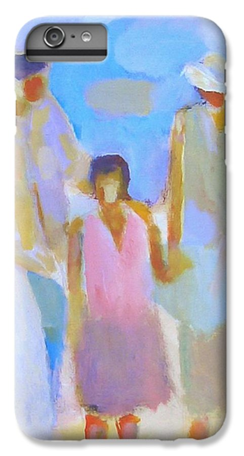 Abstract IPhone 6 Plus Case featuring the painting 3 With Love by Habib Ayat