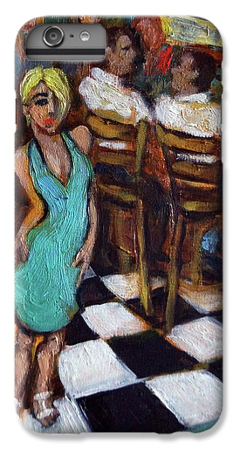 Restaurant IPhone 6 Plus Case featuring the painting 32 East by Valerie Vescovi