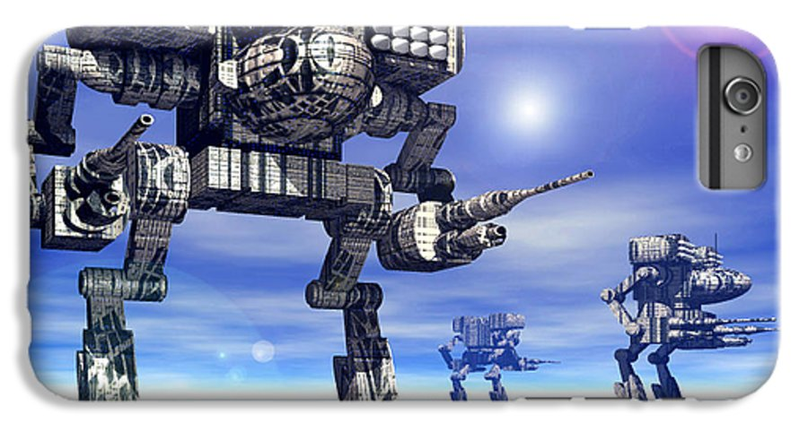 Science Fiction IPhone 6 Plus Case featuring the digital art 501st Mech Trinary by Curtiss Shaffer