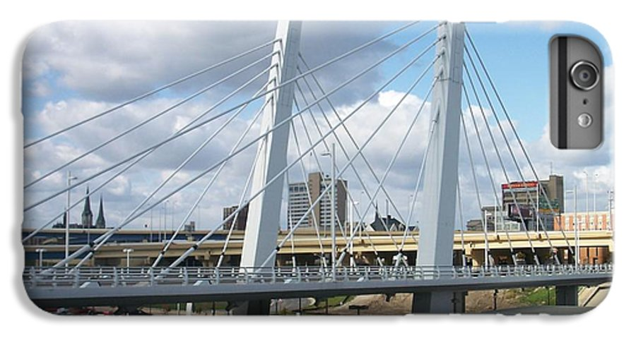 Bridge IPhone 6 Plus Case featuring the photograph 6th Street Bridge by Anita Burgermeister