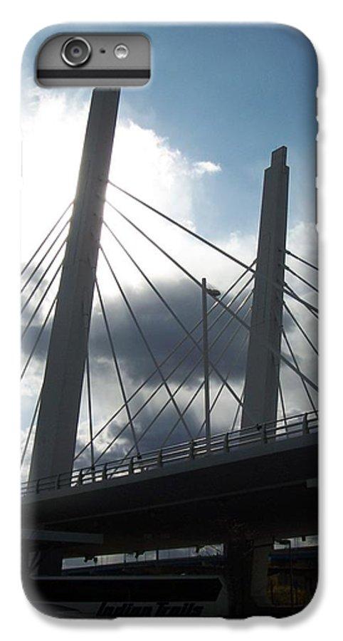 Bridge IPhone 6 Plus Case featuring the photograph 6th Street Bridge Backlit by Anita Burgermeister