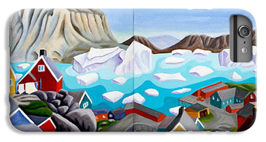 Landscape IPhone 6 Plus Case featuring the painting 70 Degrees 41 Minutes 21 Seconds North by Lynn Soehner