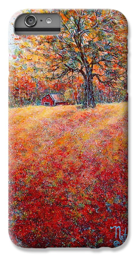 Autumn Landscape IPhone 6 Plus Case featuring the painting A Beautiful Autumn Day by Natalie Holland