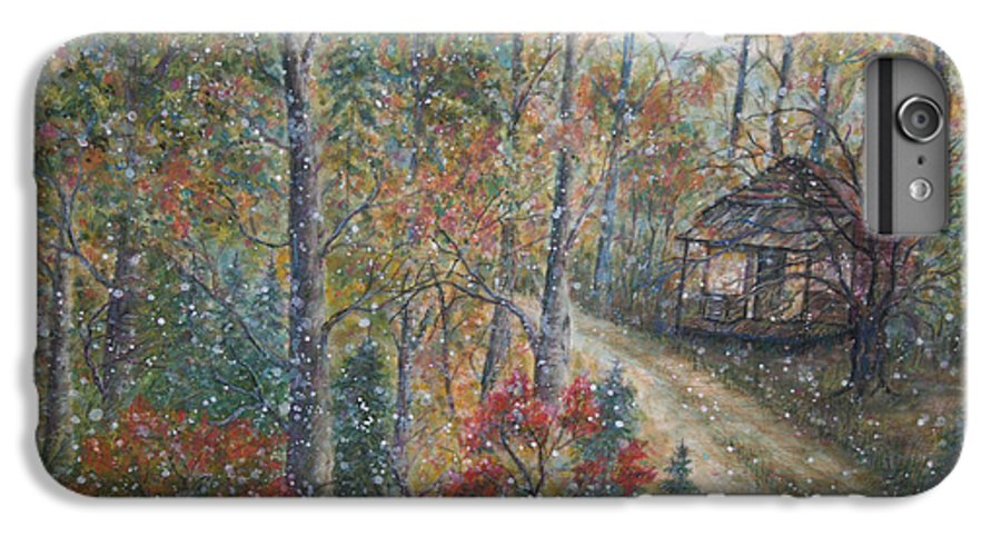 Country Road; Old House; Trees IPhone 6 Plus Case featuring the painting A Bend In The Road by Ben Kiger
