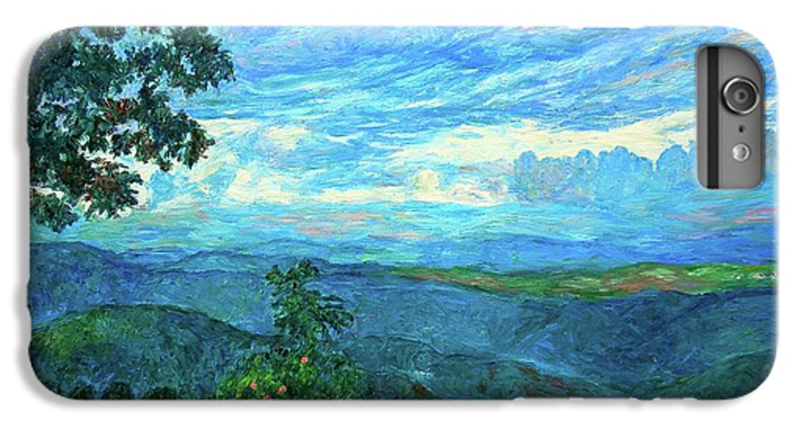 Mountains IPhone 6 Plus Case featuring the painting A Break In The Clouds by Kendall Kessler