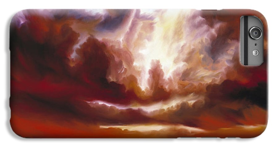 Tempest IPhone 6 Plus Case featuring the painting A Cosmic Storm - Genesis V by James Christopher Hill