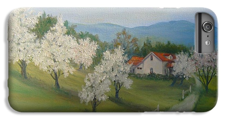 Landscape; Spring; Mountains; Country Road; House IPhone 6 Plus Case featuring the painting A Day In The Country by Ben Kiger