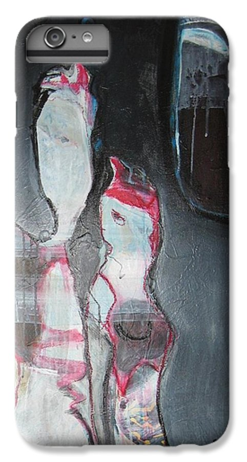 Abstract Paintings IPhone 6 Plus Case featuring the painting A Flase Rumor by Seon-Jeong Kim