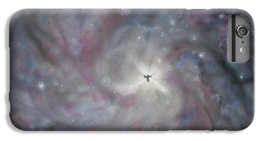 Space IPhone 6 Plus Case featuring the painting A Galaxy Centre by Mike Moss