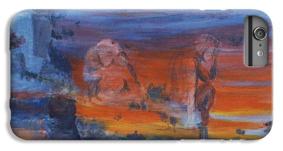 Abstract IPhone 6 Plus Case featuring the painting A Mystery Of Gods by Steve Karol