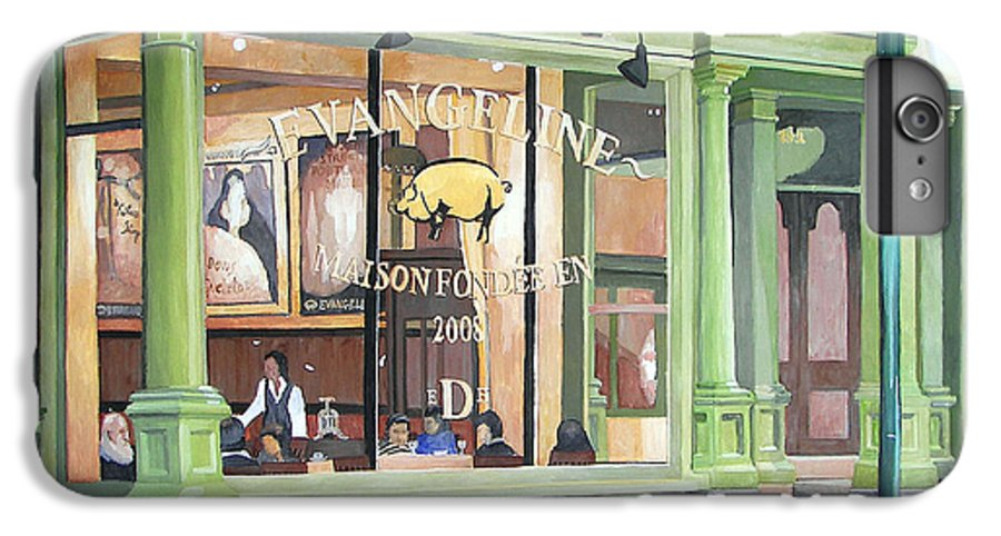 Restaurant IPhone 6 Plus Case featuring the painting A Night At Evangeline by Dominic White