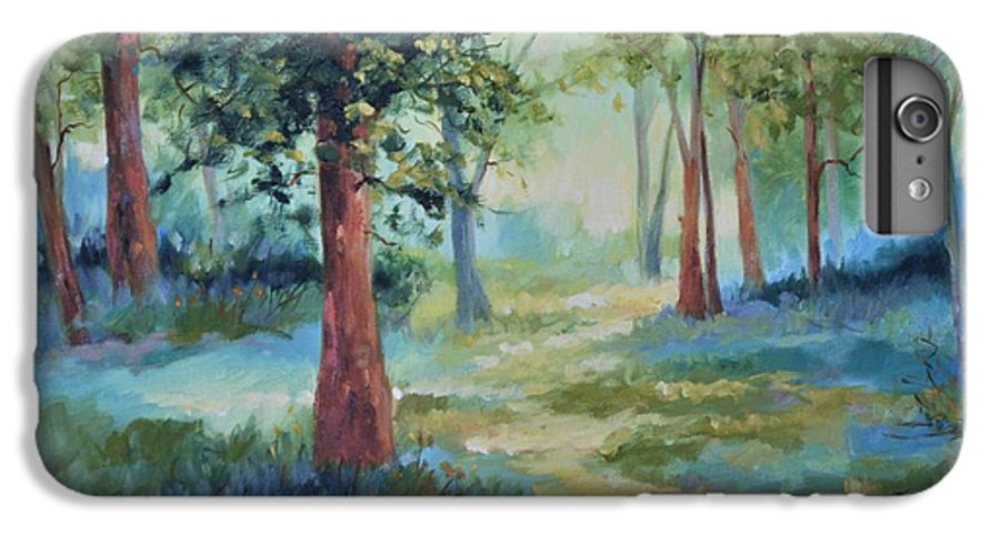 Trees IPhone 6 Plus Case featuring the painting A Path Not Taken by Ginger Concepcion