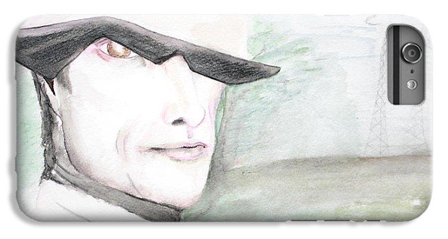 Perry Farrell Jane's Addiction Darkestartist Darkest Artist IPhone 6 Plus Case featuring the painting A Perry Farrell Plan by Darkest Artist