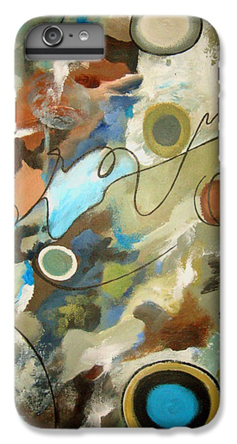 Abstract IPhone 6 Plus Case featuring the painting A Rolling Stone Gathers No Moss by Ruth Palmer