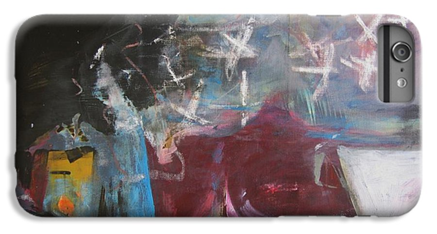 Abstract Paintings IPhone 6 Plus Case featuring the painting A Short Story by Seon-Jeong Kim