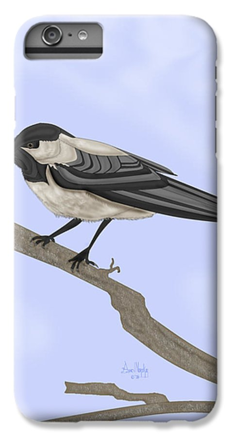 Bird IPhone 6 Plus Case featuring the painting A Small Guest by Anne Norskog