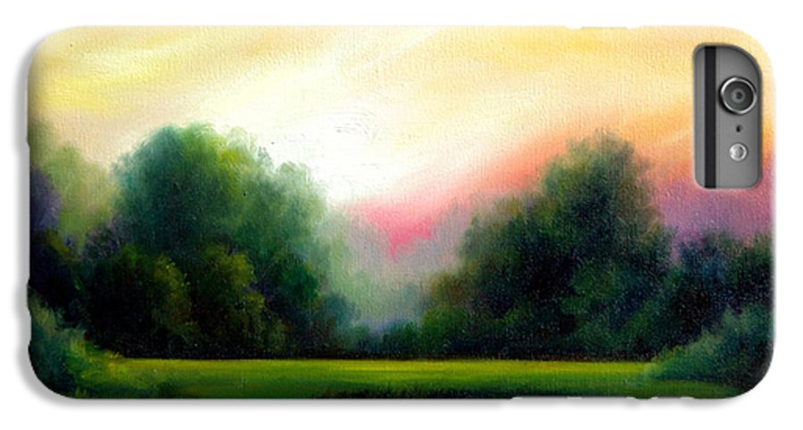 Clouds IPhone 6 Plus Case featuring the painting A Spring Evening by James Christopher Hill