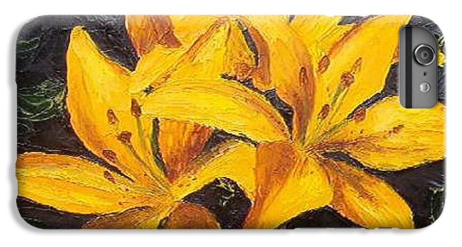 IPhone 6 Plus Case featuring the painting A Touch Of Gold by Tami Booher