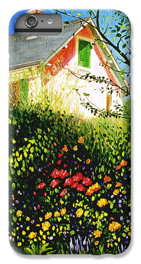 Monets House IPhone 6 Plus Case featuring the painting A View Of Monets House In Giverny France by Gary Hernandez
