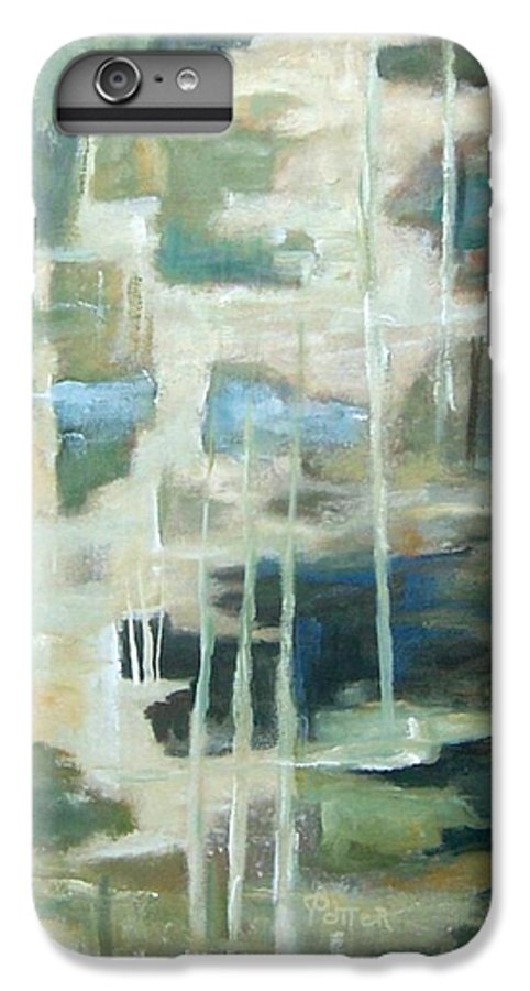 Abstract IPhone 6 Plus Case featuring the painting A Walk In The Woods by Virginia Potter