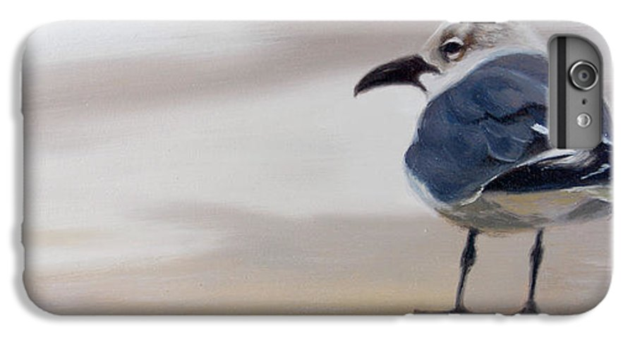Painting IPhone 6 Plus Case featuring the painting A Walk On The Beach by Greg Neal