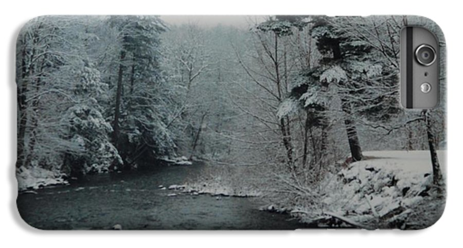 B&w IPhone 6 Plus Case featuring the photograph A Winter Waterland by Rob Hans