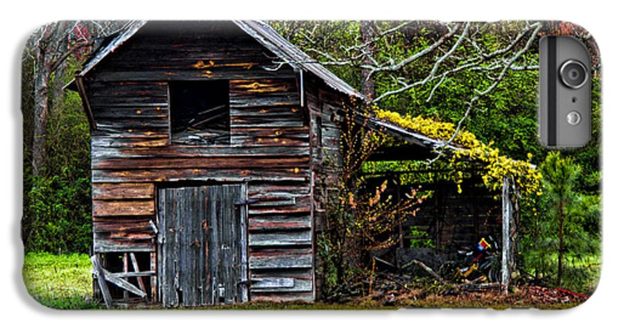 Barn IPhone 6 Plus Case featuring the photograph A Yellow Cover by Christopher Holmes