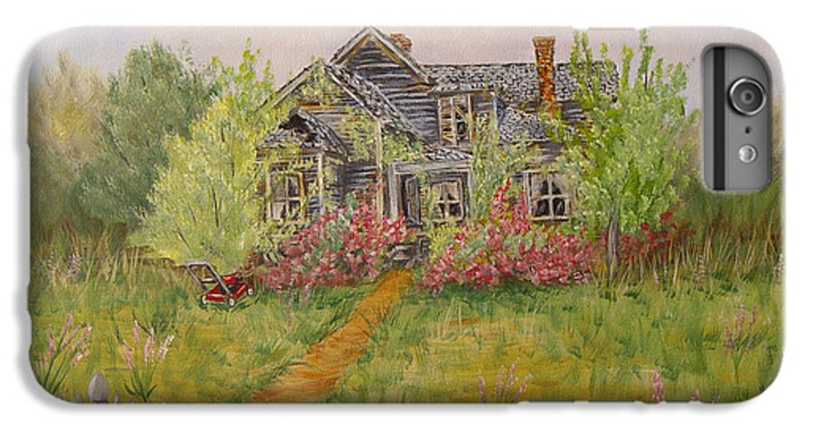 Landscape IPhone 6 Plus Case featuring the painting Abandoned House by Quwatha Valentine