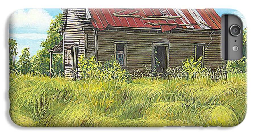 Landscape IPhone 6 Plus Case featuring the painting Abandoned by Peter Muzyka
