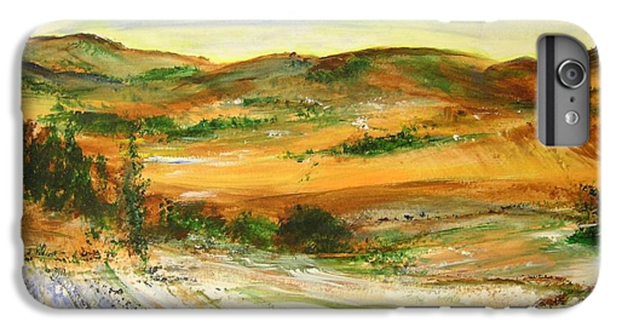 Landscape IPhone 6 Plus Case featuring the painting Aberdeen Winter Landscape by Lizzy Forrester