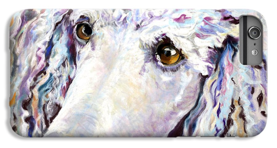 Standard Poodle IPhone 6 Plus Case featuring the pastel Above The Standard  by Pat Saunders-White
