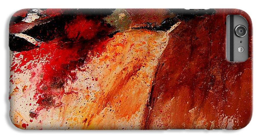 Abstract IPhone 6 Plus Case featuring the painting Abstract 010607 by Pol Ledent