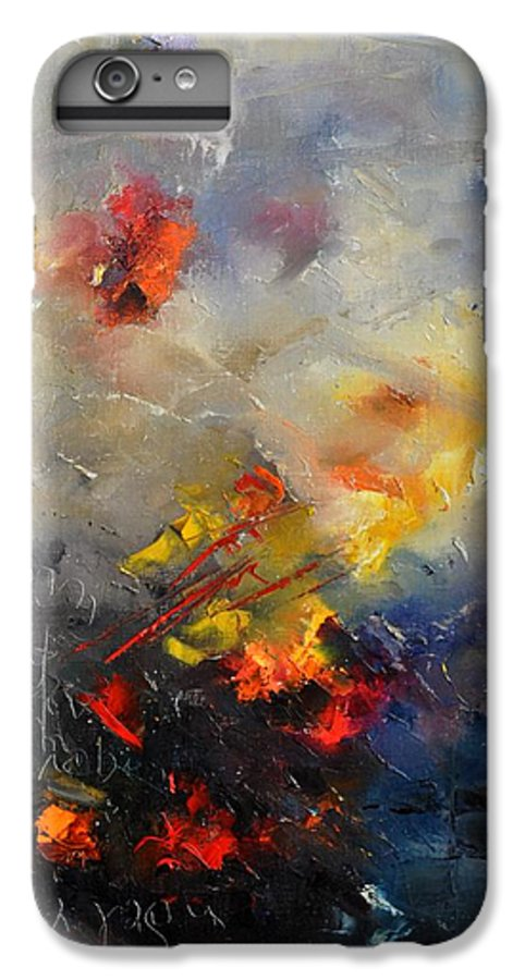 Abstract IPhone 6 Plus Case featuring the painting Abstract 0805 by Pol Ledent