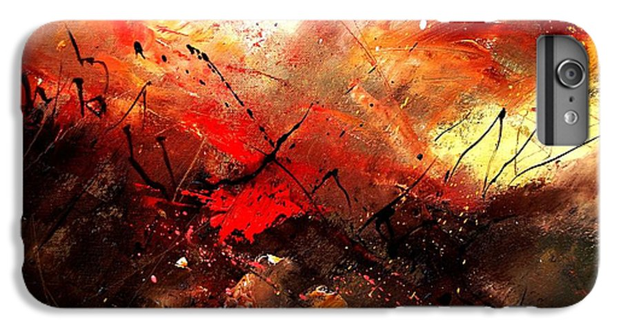 Abstract IPhone 6 Plus Case featuring the painting Abstract 100202 by Pol Ledent