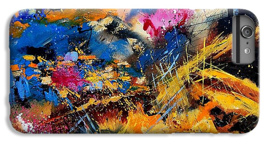 Abstract IPhone 6 Plus Case featuring the painting Abstract 7808082 by Pol Ledent