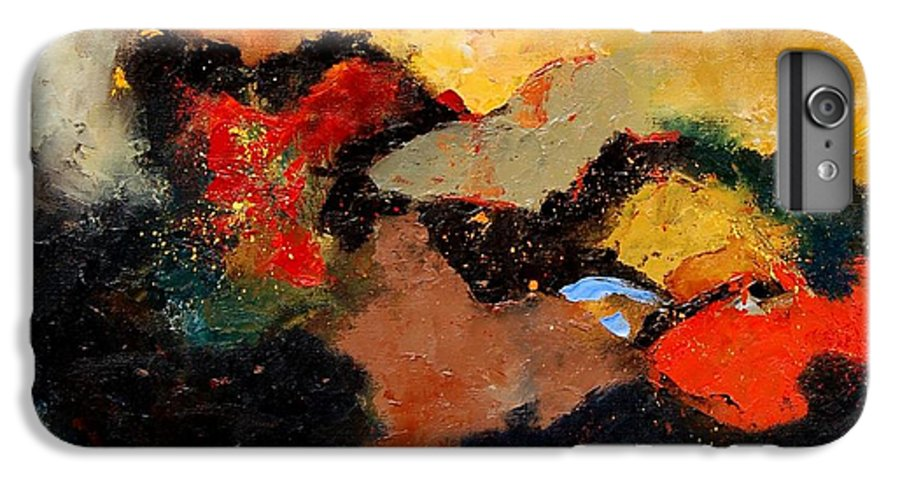 Abstract IPhone 6 Plus Case featuring the painting Abstract 8080 by Pol Ledent
