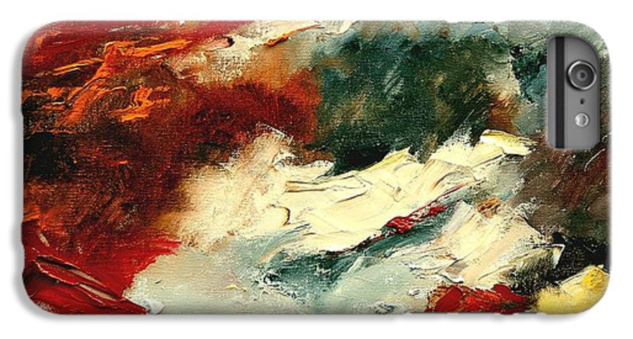 Abstract IPhone 6 Plus Case featuring the painting Abstract 9 by Pol Ledent