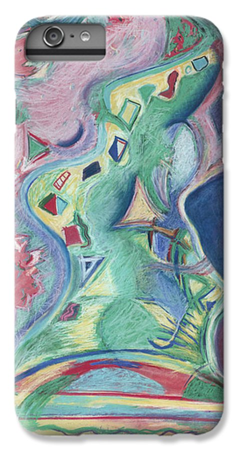 Abstract IPhone 6 Plus Case featuring the painting Abstract 92 - Inner Landscape by Kerryn Madsen- Pietsch