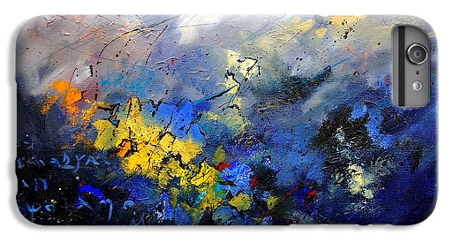 Abstract IPhone 6 Plus Case featuring the painting Abstract 970208 by Pol Ledent