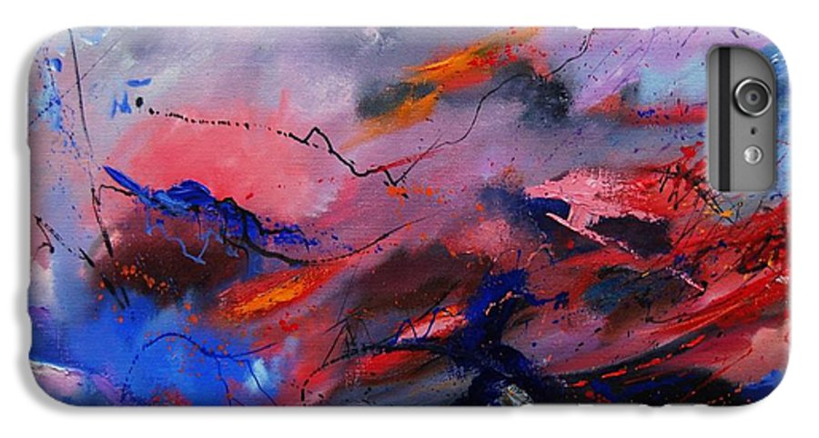 Abstract IPhone 6 Plus Case featuring the painting Abstract 971260 by Pol Ledent