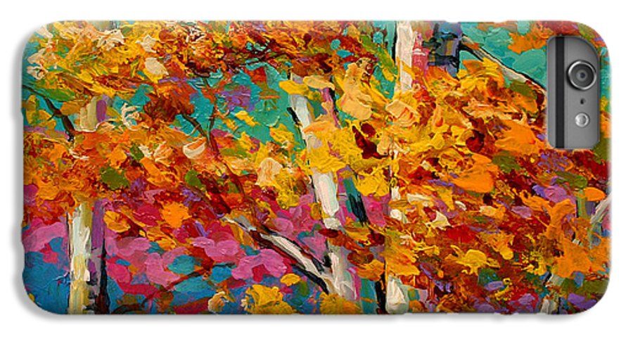 Trees IPhone 6 Plus Case featuring the painting Abstract Autumn IIi by Marion Rose