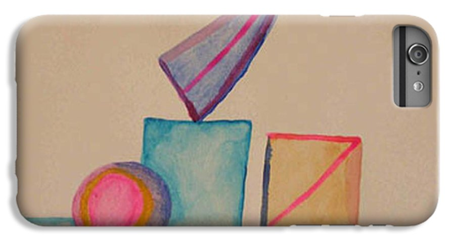 Abstract IPhone 6 Plus Case featuring the painting Abstract Geometry by Natalee Parochka
