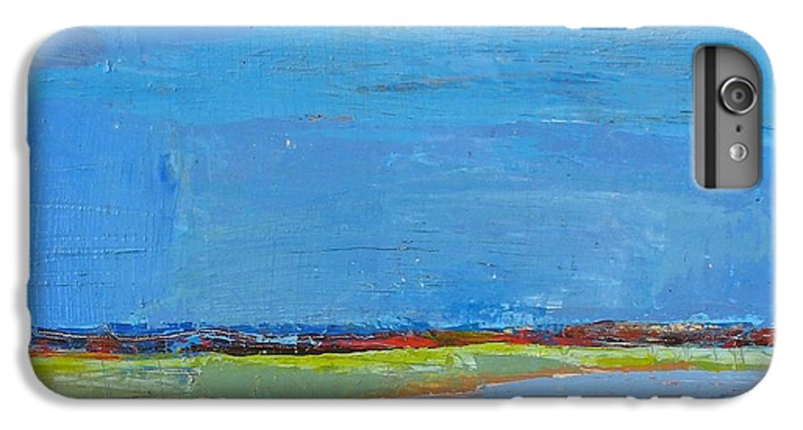 IPhone 6 Plus Case featuring the painting Abstract Landscape1 by Habib Ayat